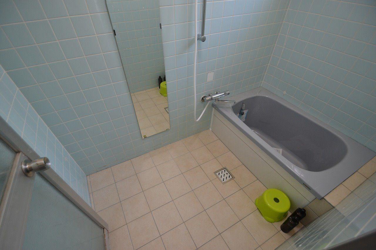 浴室に鏡もあります