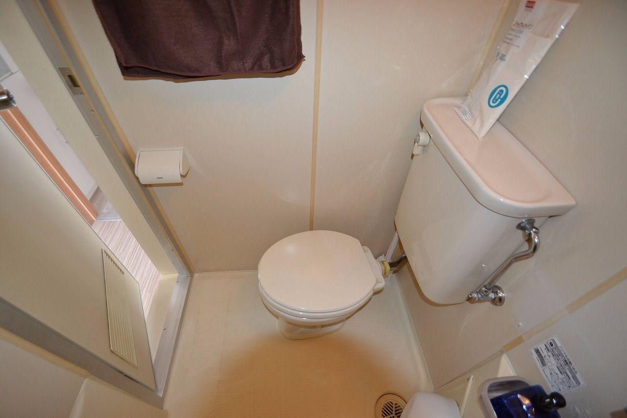 浴室と一緒なので掃除もしやすい!