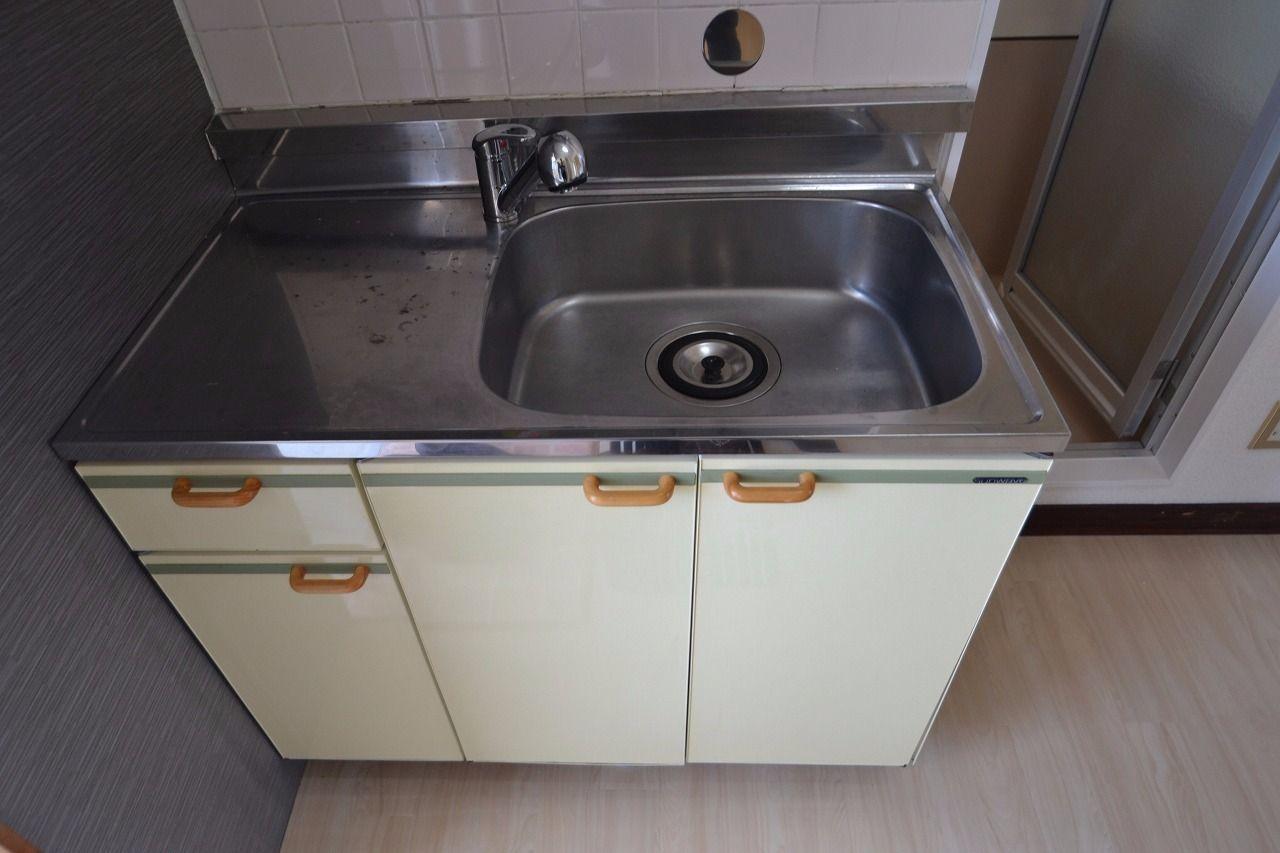 意外と大きい洗い場が特徴。