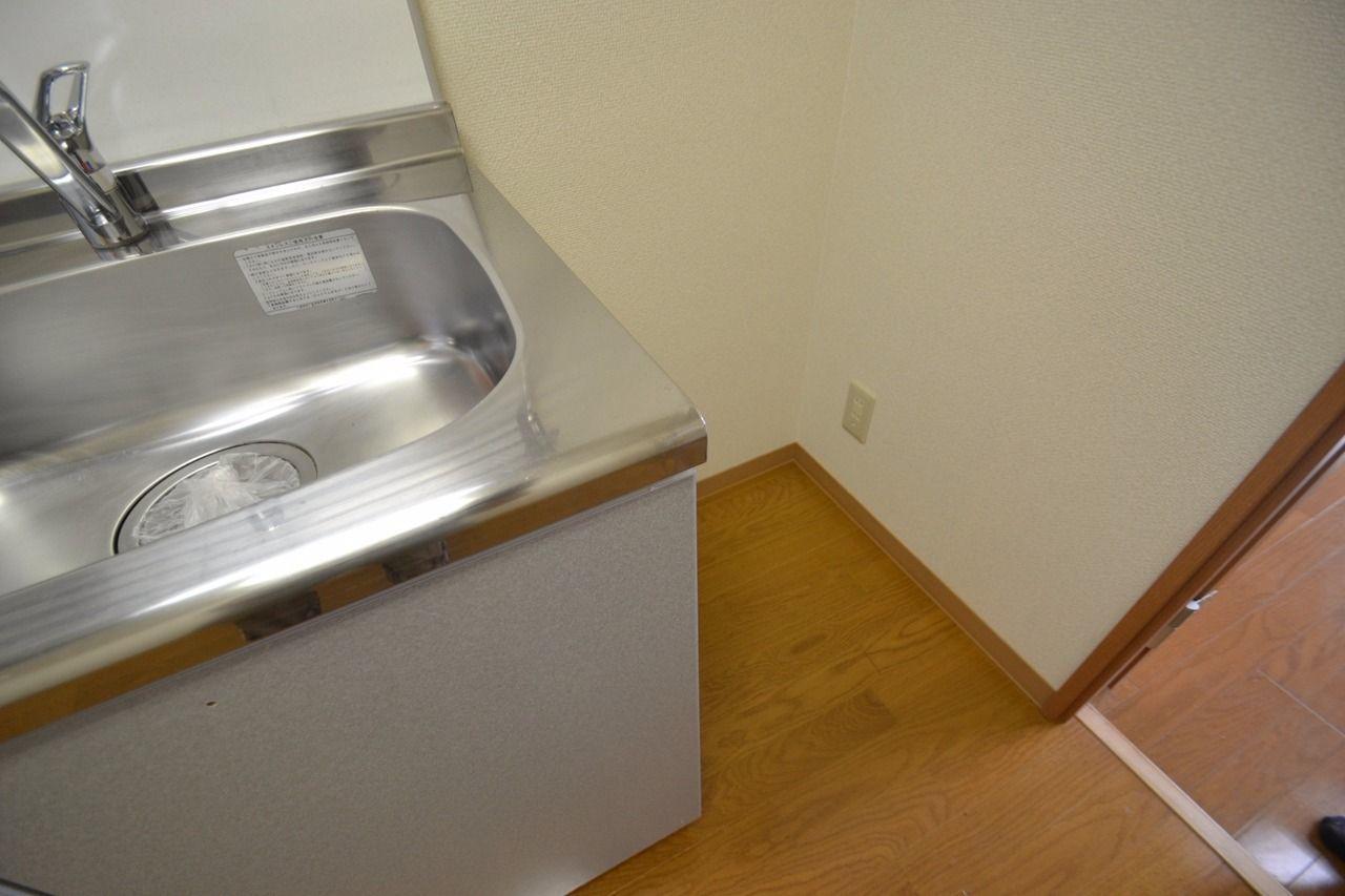 一人暮らし用の冷蔵庫なら十分入るスペースです。