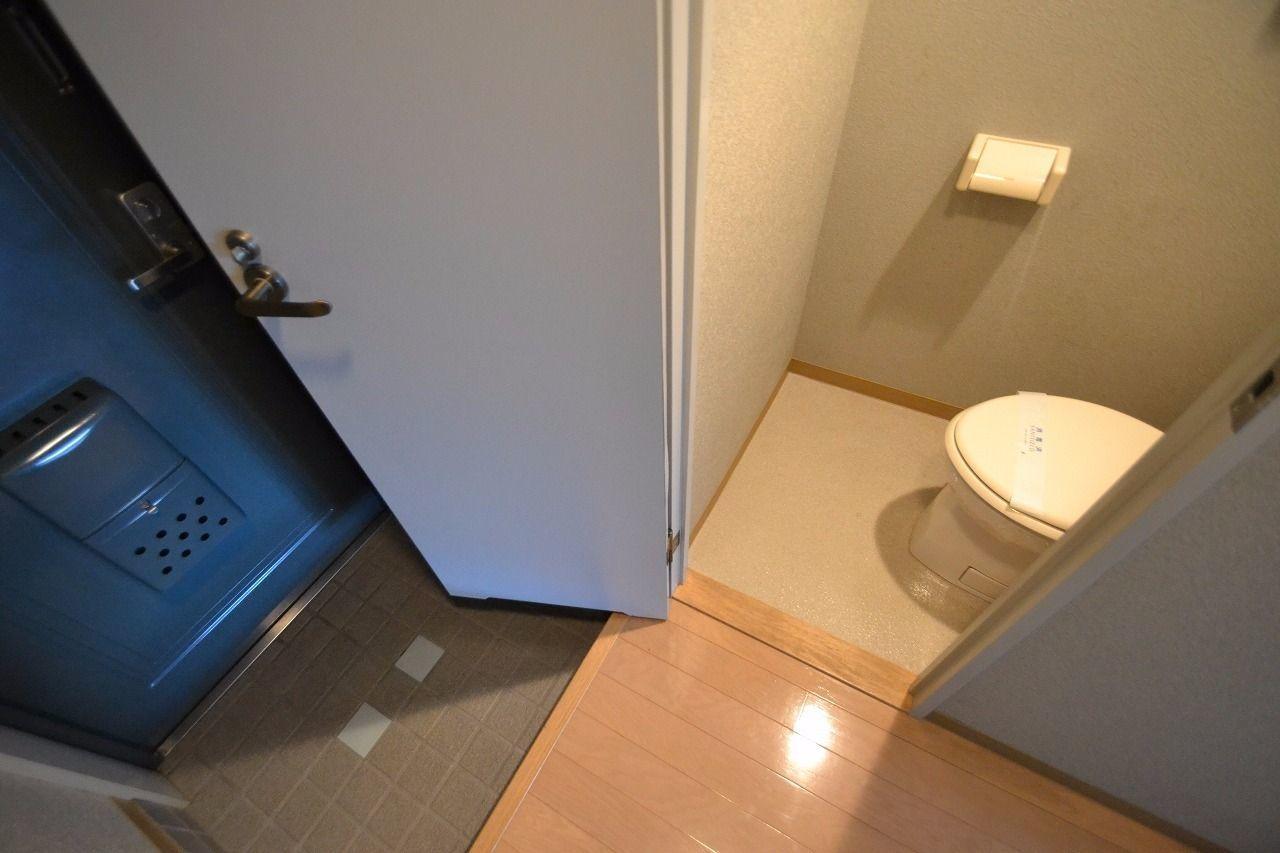 帰宅後すぐにトイレを使用出来ます!