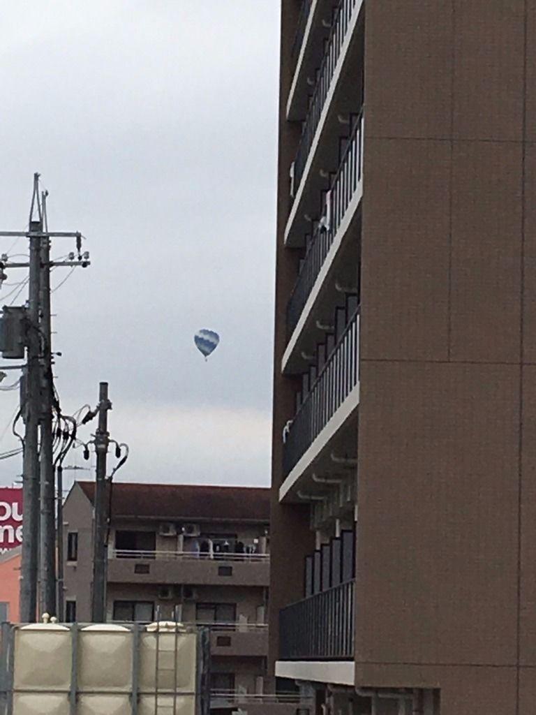 広島大学近くで気球が飛んでいました!!